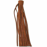 Soft Suede Fringe For Leather Items Extra Long In 3.5 Long Strip Medium Brown