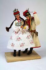 POLISH FOLK COSTUME DOLL COUPLE Poland Folk Art Vintage Handmade Dolls Ethnic