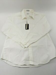 Mens White Marquis Long Sleeve Button Down Dress Shirt Size Large NWT