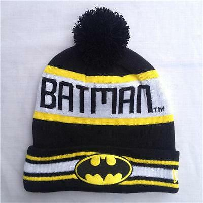 Mens/Boys Black/White striped Batman Knitted  Ski Hat one size, fast post