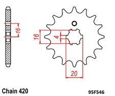 KR Ritzel 14Z Teilung 420 YAMAHA LB-2M 50 / PW RD 80 / RT 100 ... front sprocket