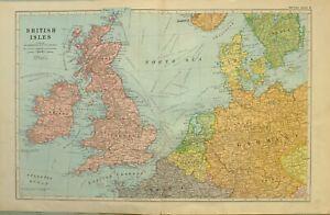 1922-Carte-Iles-Britanniques-Pays-Bas-Belgique-Danemark-Angleterre-Ecosse-Galles