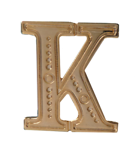 Letter K Gilded Orange Order Collarette Character