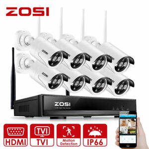 ZOSI-960P-HD-Wireless-NVR-Funk-Haus-Video-Uberwachungssystem-WLAN-IP-Kamera-Set