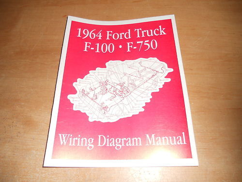 1964 FORD F100 F250 F350 F-100 WIRING DIAGRAMS MANUAL