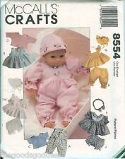 McCalls 8554 Baby Doll Wardrobe pattern UNCUT spring clothes girl dresses FF
