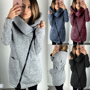 UK-Plus-Size-Womens-Winter-Casual-Hoodies-Jacket-Coat-Ladies-Long-Zipper-Outwear