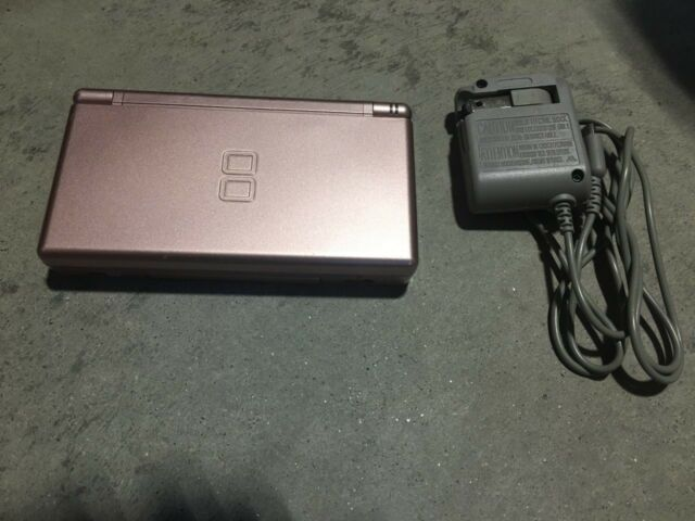 Nintendo DS Lite Launch Edition Metallic Rose Handheld System NICE SHAPE NES HQ