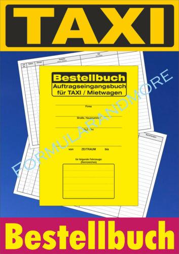 Terminbuch DIN A5 NEU Auftrags-Eingangsbuch TAXI  Mietwagen Bestellbuch