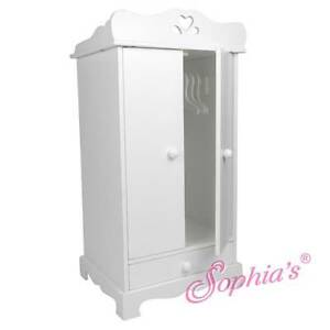 Superb Image Is Loading White Hand Painted Doll Armoire Closet Wardrobe For