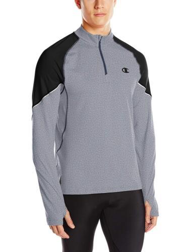CHAMPION Mens Grey /& Black ¼ Zip Pullover Training Jacket Top Size XL NWT