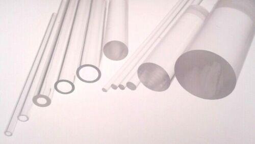 Plástico Tubo /& Barra Acrílico Extruida Transparente perspex /& Hueco Tubular