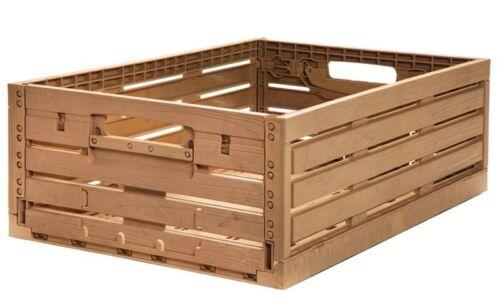 Apfelkiste Obstkiste Gemüsekiste Klappbox Holzdesign 600x400x188mm Gastlando