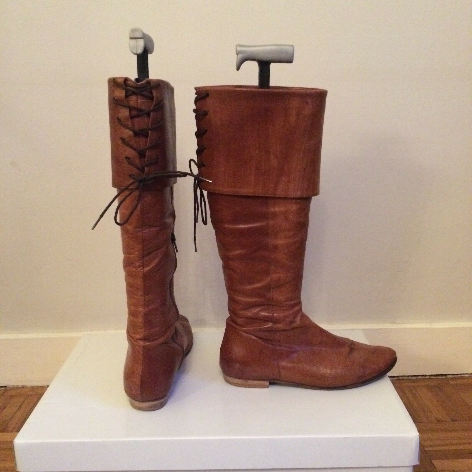 Pied a terre tan knee high over knee boots, size 5
