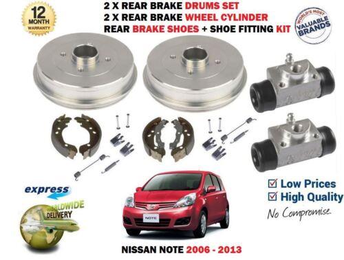 Pour Nissan Note E11 2006-2013 2X Tambour de frein Set 2X ROUE CYLINDRE chaussures Kit