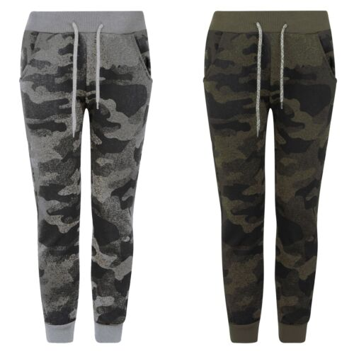 Kids Teenagers Pixel Camo Tracksuit Bottoms Girls Boys Jogging Sweatpants 3-14 Y