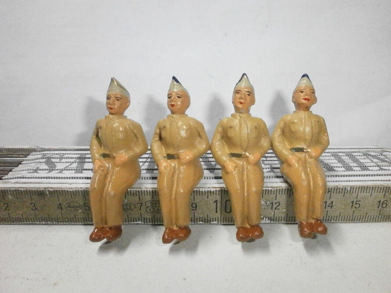 4 Sitzsoldaten Amerikaner for Elastolin Tippco Motor Vehicles Zu 7cm