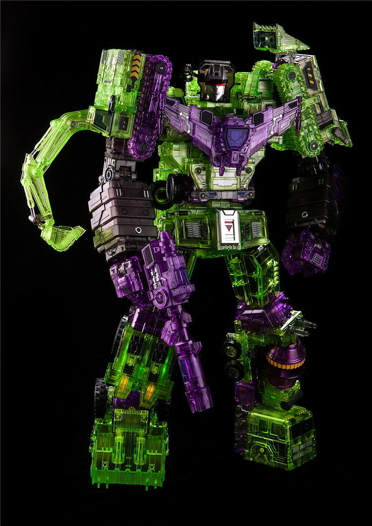 NEW TOYWORLD TW-C07C Constructor DEVASTATOR CLEAR Ver Full Set of 6 Figures