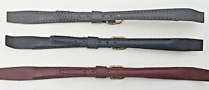 10mm-FLEURUS-BLACK-GENUINE-PADDED-LEATHER-WATCH-BANDS-FOLD-OVER-ENDS