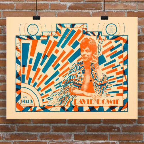 David Bowie Ziggy Stardust concert poster canvas print extremely rare 1972-73