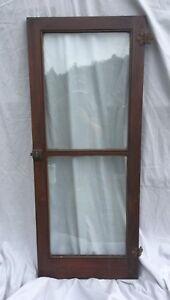 Details about Vtg 1920\'s Brown Cabinet Bookcase Kitchen Pantry Doors 18x44  119-18C