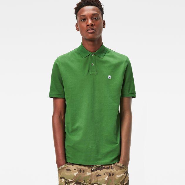Men s G-Star Raw Short Sleeve Polo Shirt Pique Green Size Large L   eBay 571350f14c