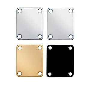 Neck-plate-replacement-for-Strats-Teles-etc-Chrome-Nickel-Gold-Black