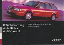 AUDI S6 A6 Avant C4 Betriebsanleitung 1994 Bedienungsanleitung Handbuch BA