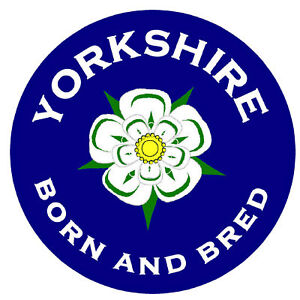 YORKSHIRE BORN & BRED - FUN CAR / WINDOW STICKER + 1 FREE - BRAND NEW - GIFT