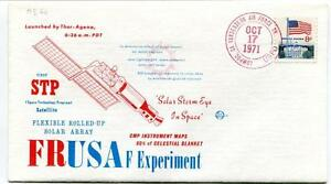 1971 Frusa F Experiment First Stp Fexible Rolled-up Solar Array Vandenberg Sat