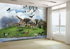 Nature-Collage-With-Wild-Animals-Wallpaper-Mural-Photo-22173728-budget-paper