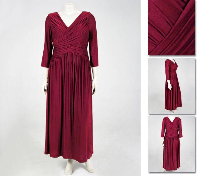 NEW   Zaftique LS LS LS ARCADIA Dress GARNET Red (Last One ) 0Z   14   Large L c888e3