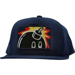 e21f9bacd97 Image is loading The-Hundreds-Patch-Adam-Snapback-Cap-navy