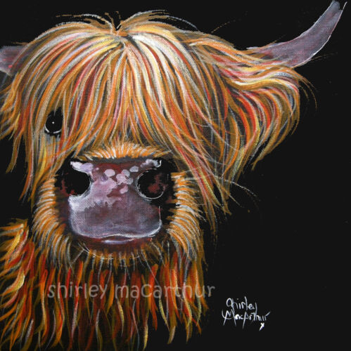 HIGHLAND CoW PRiNTS WaLL ART of Original Painting HENRY by SHIRLEY MACARTHUR