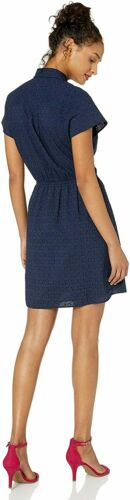 Details about  /J.Crew Mercantile Women/'s Short-Sleeve Eyelet Collared Tie Front Dress