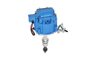 SBF-Ford-Small-Block-260-289-302-HEI-Ignition-Blue-Cap-Distributor-w-65K-Coil