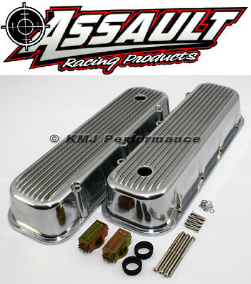 New BBC Ball Milled Aluminum Big Block Chevy 454 Tall Polished Valve Cover 65-95
