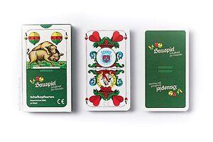 Schafkopfkarten-bayerisches-Bild-von-Sauspiel-Schafkopf