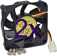 [2 pack] Gembird D6015SM-3 PC 3 Pin Cooler Fan 60 x 60mm [005053]