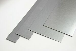 Aluminium✔️ Edelstahl Stahl Blechstreifen 1-4mm in versch. Breiten 1000mm Lang✔️