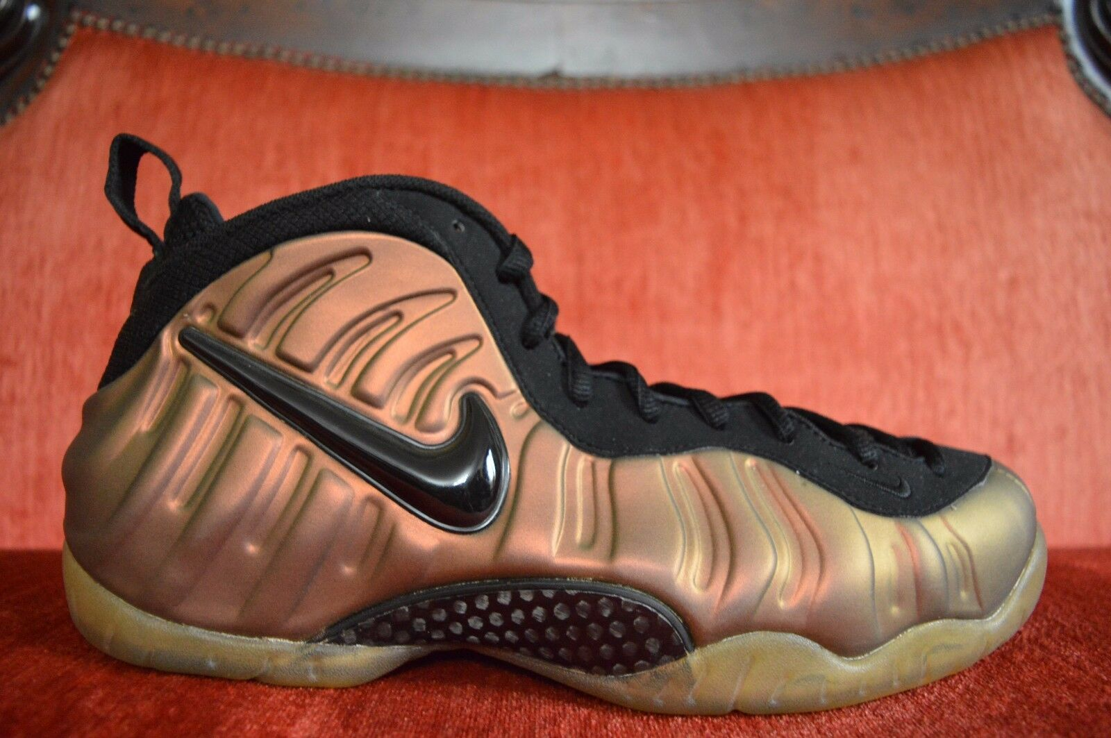 NDS Nike Air Foamposite Pro Black Gym Green 624041-302 Pine Size 11.5 OG ALL
