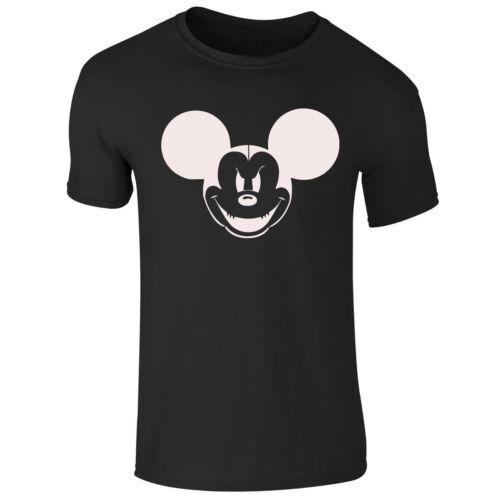 Adults Kids Girls Boys Disney Mickey Mouse Novelty Scary Halloween T Shirt Top