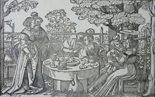 HANS SEBALD BEHAM DER VERLORENE SOHN 2 HOLZSCHNITTE 16. JAHRHUNDERT DERSCHAU