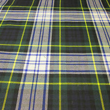 Gordon Dress Modern Tartan Fabric Plaid 13oz 100% Wool By The Metre