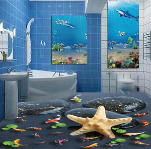 3D Stone Carp 693 Floor WallPaper Murals Wall Print 5D AJ WALLPAPER AU Lemon