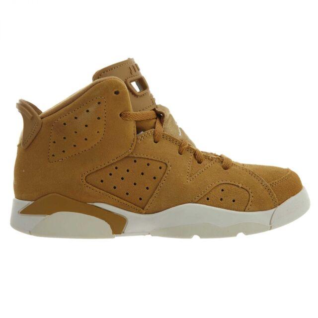 more photos 70566 a80aa Jordan 6 Retro Little Kids 384666-705 Golden Harvest Sail Shoes Youth Size  1.5