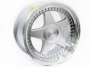 17 Type-595 4-100 and 4-114 Alloy Wheels – 4-100 and 4-114 pcd – 38 offset – CB73.1 – sold as a set