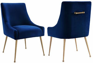 Anthropologie ELOWEN Style Modern Velvet & Brass Accent Dining ...