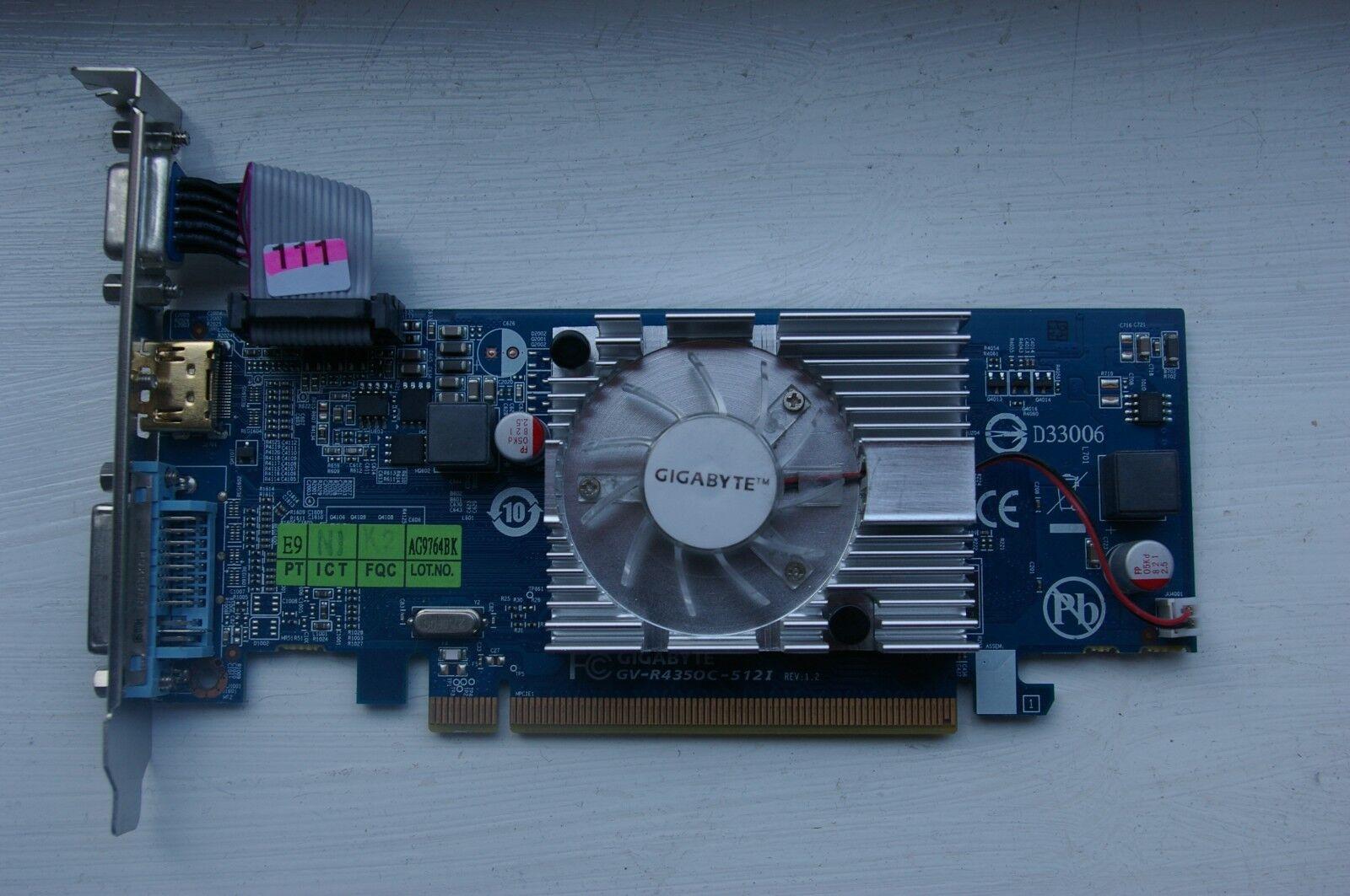 GIGABYTE ATI RADEON HD4345 RV710 PCI-EX16 512 MB HDMI/DVI/VGA