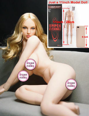"""TBLeague Phicen 1:6 Scale S07C Pale Large Bust Female Girl Body Doll 12/"""" Figure"""